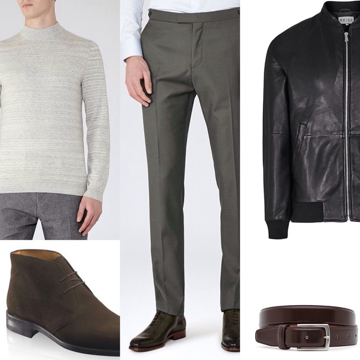 Client brief - using pieces purchased from our previous shop together in November outfit build using new pieces for the summer months. Leather, knitwear, trousers and belt: Reiss Boots: Russell and Bromley
