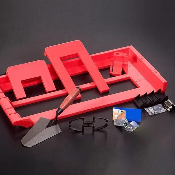 The Adjustable Bricklaying Tool Is An Adjustable Bricklaying Tool That Provides Uniform Seams This Template Ensures That You Construction Tools Tools Diy Dvd