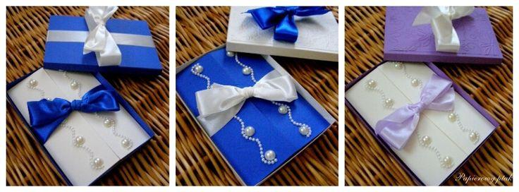 Ręcznie robione zaproszenia ślubne.  www.facebook.com/PapierowyPtak