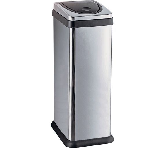 Buy HOME 30 Litre Rectangular Press Top Kitchen Bin - Silver at Argos.co.uk - Your Online Shop for Kitchen bins, Kitchenware, Cooking, dining and kitchen equipment, Home and garden.