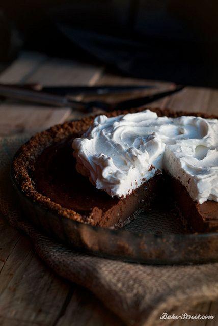 Pastel de batata y chocolate con crema de coco