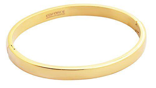 18 K Gold Plated Bracelet Hinged Stainless Steel for Women