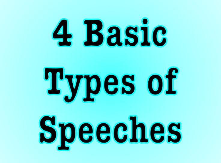 4 Basic Types of Speeches (With images) | Public speaking ...
