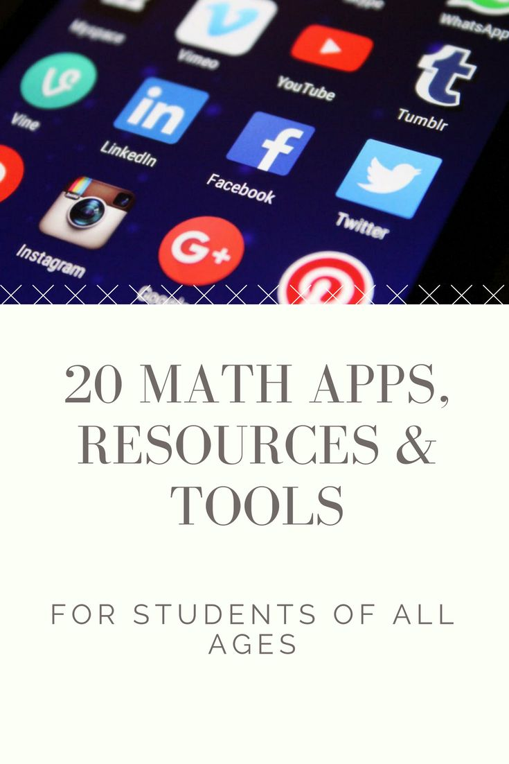 20 Math Apps for Students of All Ages Math lessons, Math