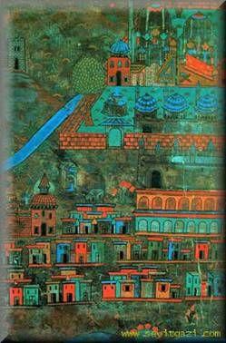 Matrakçı Nasuh-Seyitgazi-Beyan-i Menazil-i Sefer-i Irakeyn-i Sultan Suleyman, written circa 1537. (Istanbul University Library)