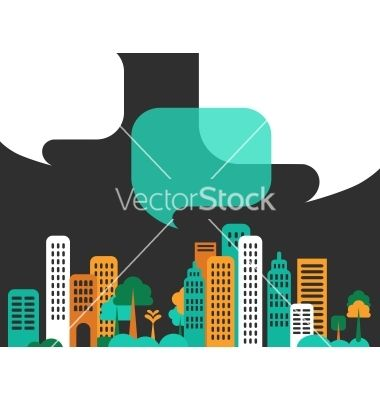 City talks buildings vector 924843 - by ma_rish on VectorStock®