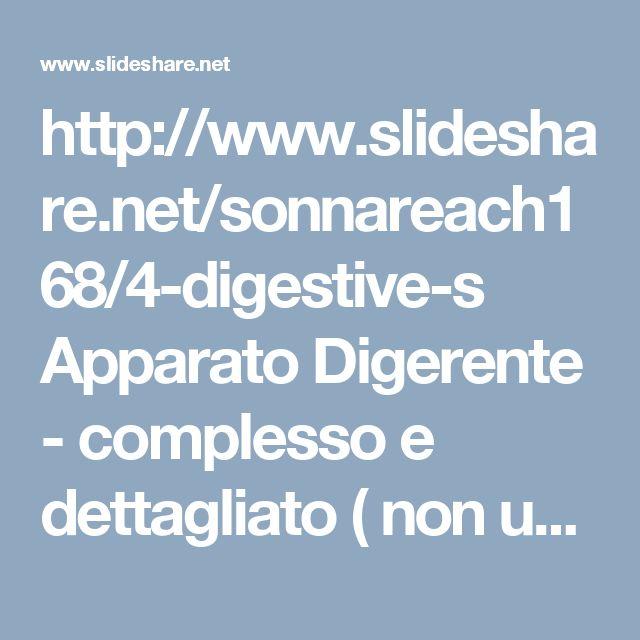 http://www.slideshare.net/sonnareach168/4-digestive-s Apparato Digerente - complesso e dettagliato ( non usare per la classe, utile per spunti e qualche illustrazione - in inglese )