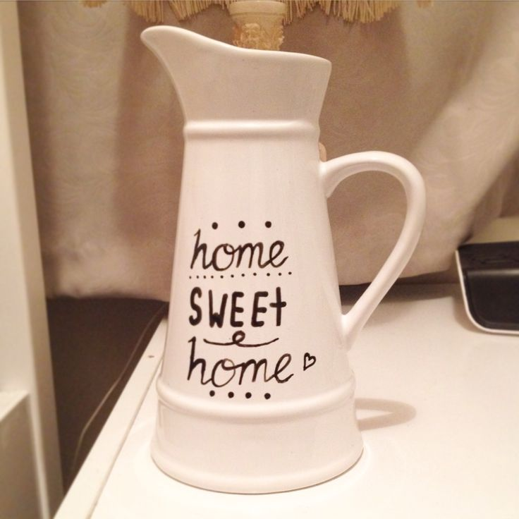 Hand lettered jug - Home Sweet Home