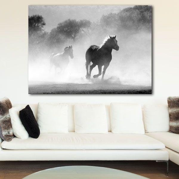 Άλογο που τρέχει πίνακας σε καμβά