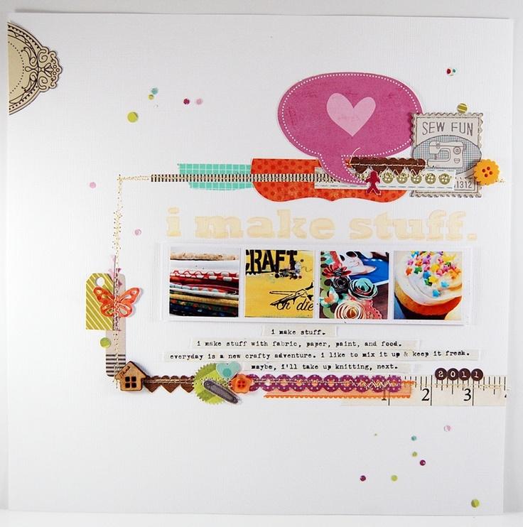I Make Stuff Layout by Mandy Kay