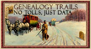 Genealogy Trails - Free genealogical data added by volunteers across the U. S.