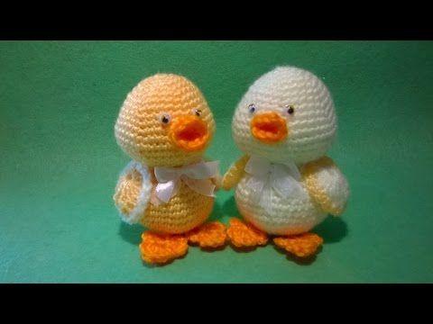 Pulcino Uncinetto - Amigurumi Tutorial - Chick Crochet - YouTube