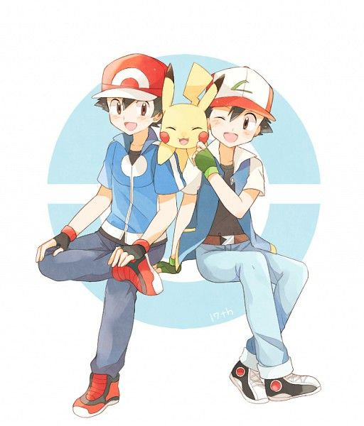 PikaParadox. Ash/Satoshi (Pokémon), Pikachu (by May, Pixiv Id 233774)