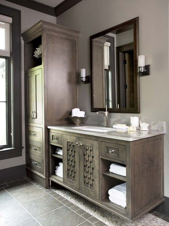 The cliffs at mountain park private residence refined for Bathroom cabinets greenville sc