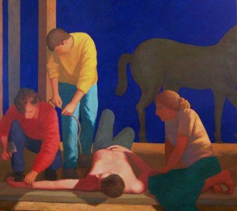 Los preparativos para una crucifixión