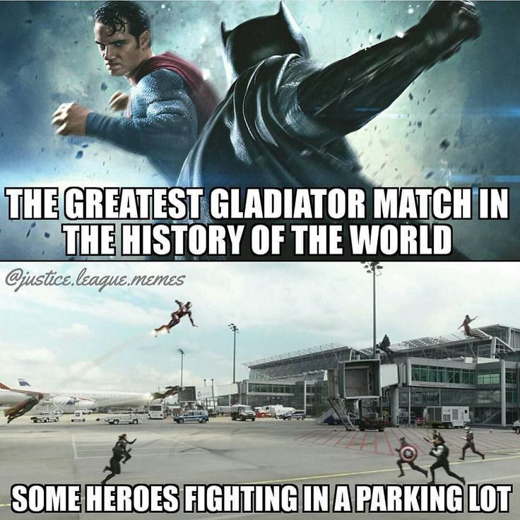 I think Civil War is going to be amazing but I literally laughed out loud to this. Props to my watchtower buddies over at @justice.league.memes. (Also: Parking lot airport parking lot for airplanes whatever lol) --- Also this week on Blerd Vision podca