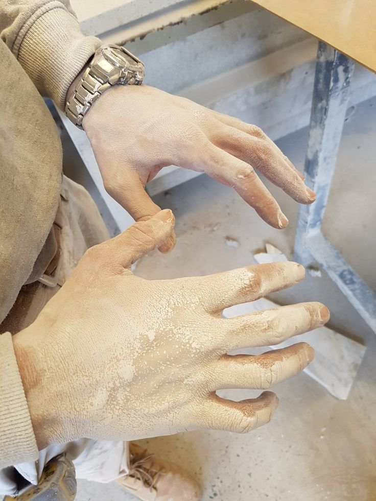 Zombie hands ;-)  there really is nothing like working with marble.