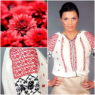 An elegant mix of colours and traditional romanian symbols!  #florideie #fashion #trend #style #romaniandesign #red #colorful #summer #flowers #nature