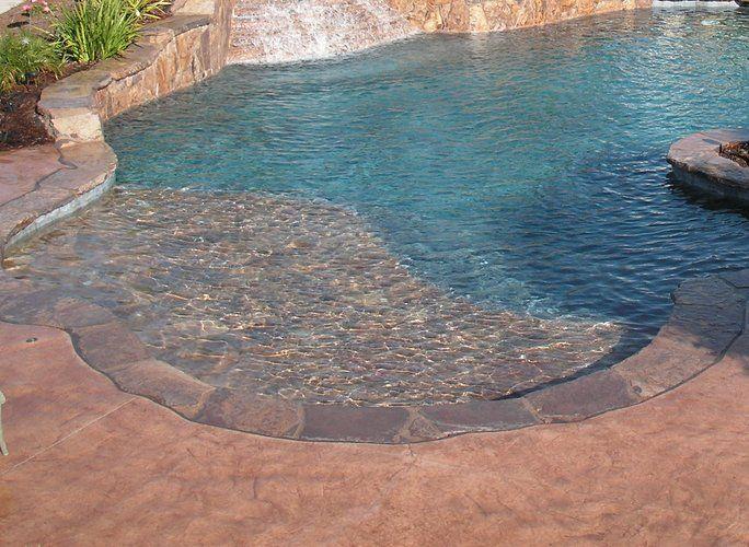 1000 Ideas About Beach Entry Pool On Pinterest Pools Swimming Pools And Pool Designs