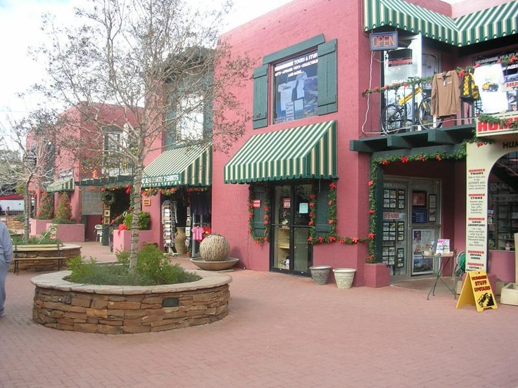 """Downtown Sedona, Arizona or as we say in  West Sedona, let's go """"uptown"""""""