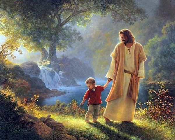 Greg Olsen art - love this one this one reminds me of my son in heaven with Jesus. I would like a copy of this