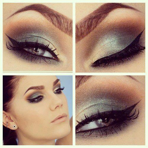 Gorgeouse silver eyeshadow <3