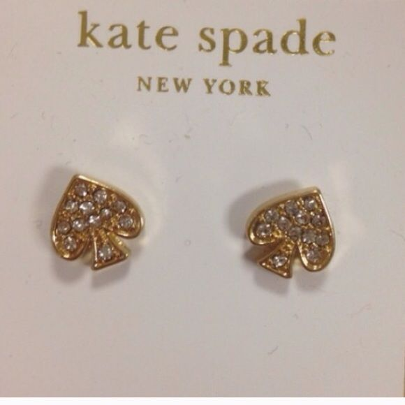 Kate spade rhinestone earrings ear stud New never used kate spade Jewelry Earrings