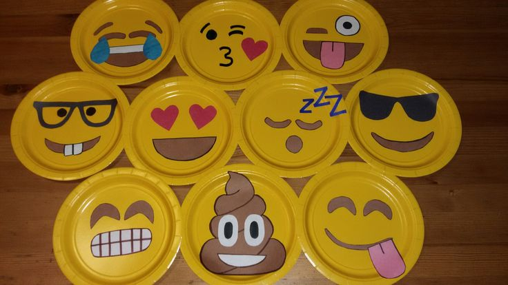 Classroom Decoration Emoji ~ Emoji plate decorations yaya s creations pinterest