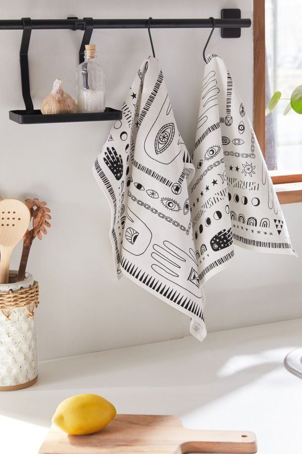 Urban Outfitters Mystical Tea Towel Set Tea Towels Glass Storage Jars Jar Storage