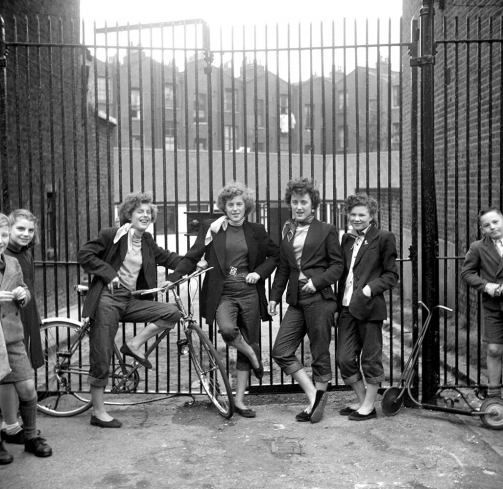 Teddy Girls, London, 1955, photographed by Ken Russell