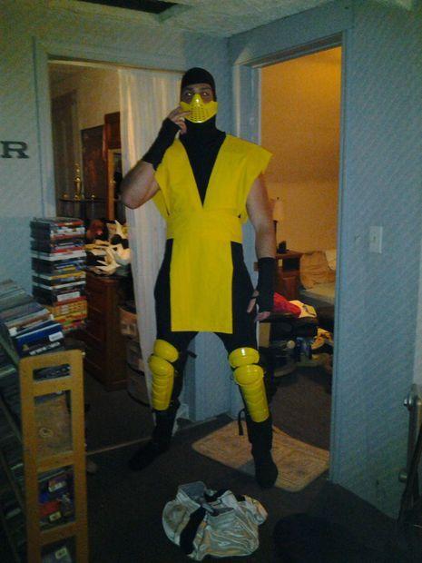 Make a Scorpion Costume (Mortal Kombat Ninja) | Diy ninja ...