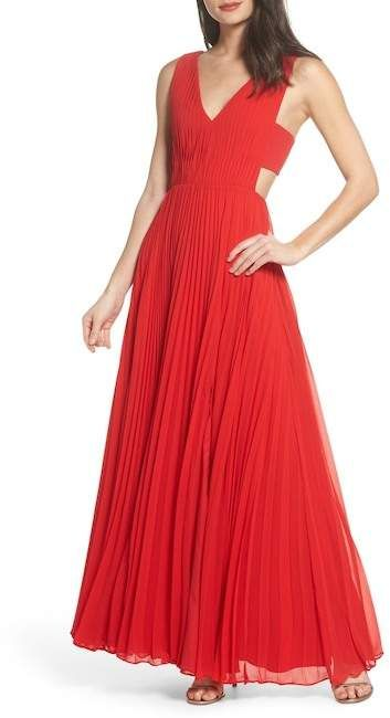 b339f2e573c FAME AND PARTNERS Pleated Maxi Dress  red  gown  dress