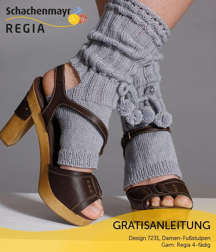 Raffiniert und extravagant, dabei behaglich und warm. Diese ungewöhnliche Kombination bieten Ihnen die Fußstulpen, die sich speziell für Sandalen eignen. Sie werden sie an kühlen Spätsommerabenden nicht mehr missen wollen! #Regia