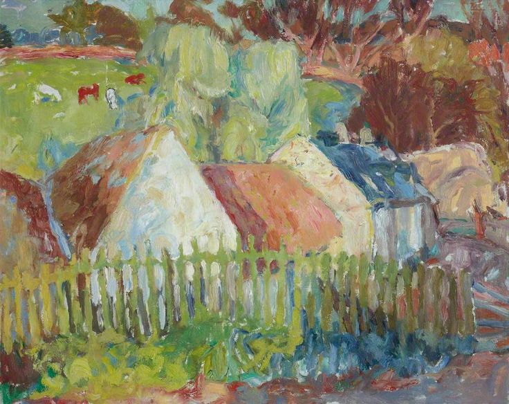 William George Gillies Cottages with Green Fence