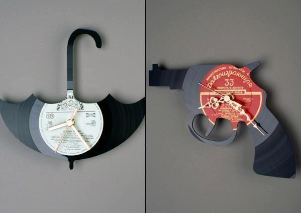Original clock and recycled