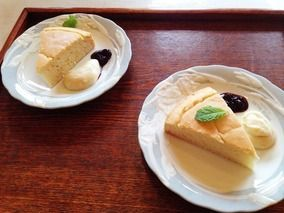 マクロビ 米粉100%ケーキ & 米粉カスタードソース風|レシピブログ