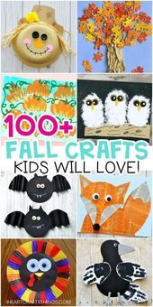Easy Fall Crafts for Kids -100+ Artistic Craft Ideas for Kids. Fun and easy …