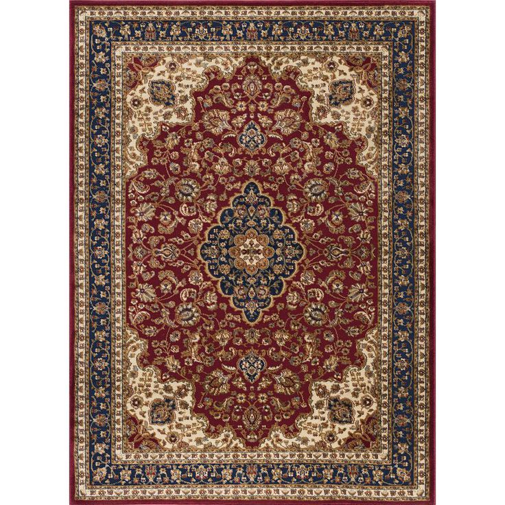 Sensation Red 7 ft. 10 in. x 10 ft. 6 in. Traditional Area Rug