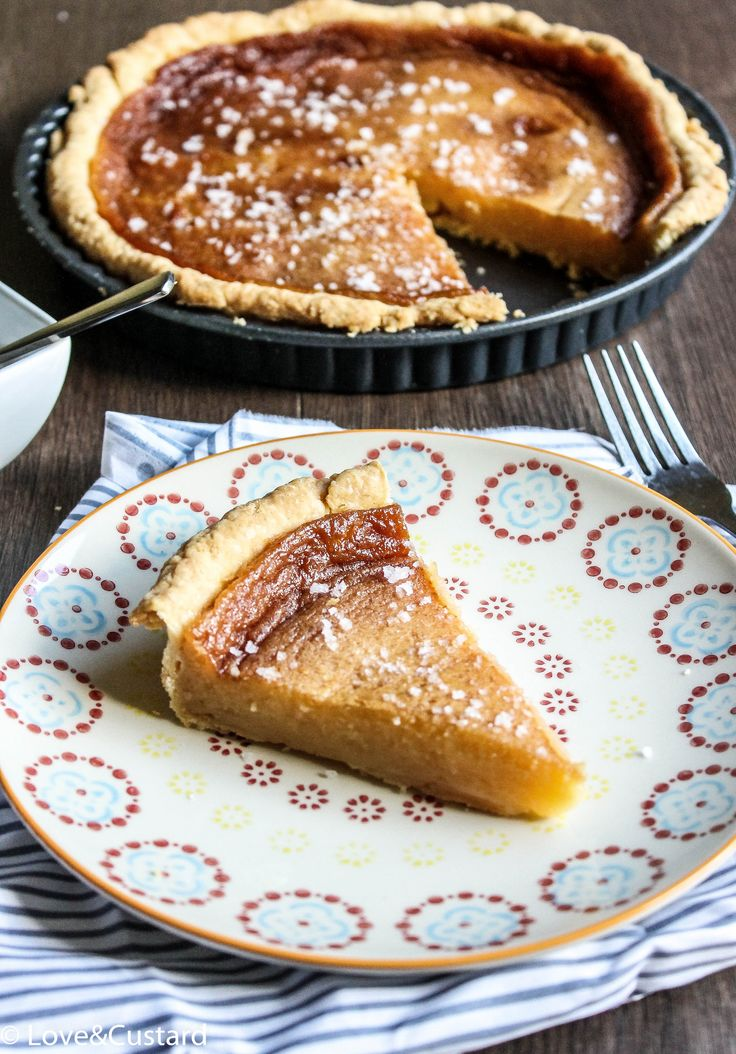 A sweet and salty, rich and moreish salted honey pie you won't be able to stop eating!