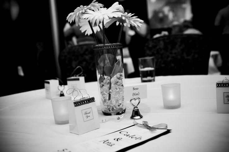 Wedding table pieces
