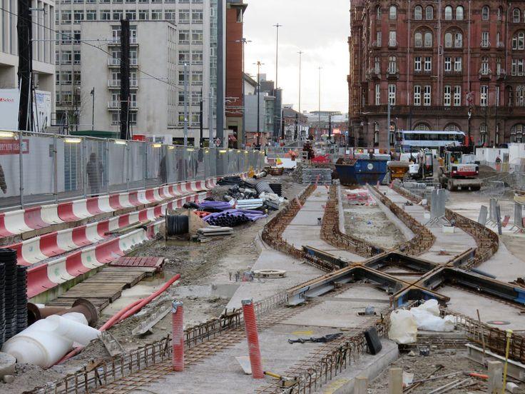Manchester Metrolink track work