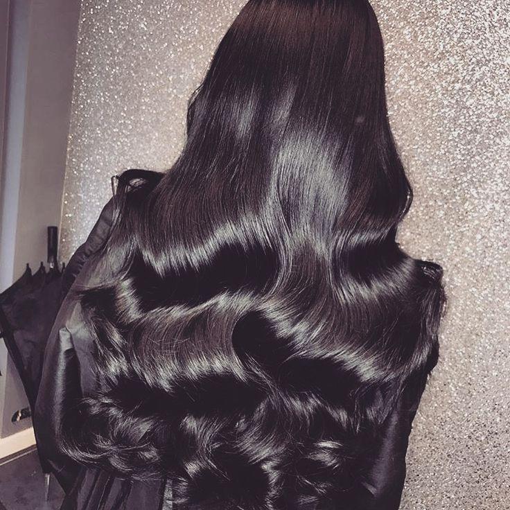 Long Black Curly Highlights Wedding Hairstyle Natural Hair A B