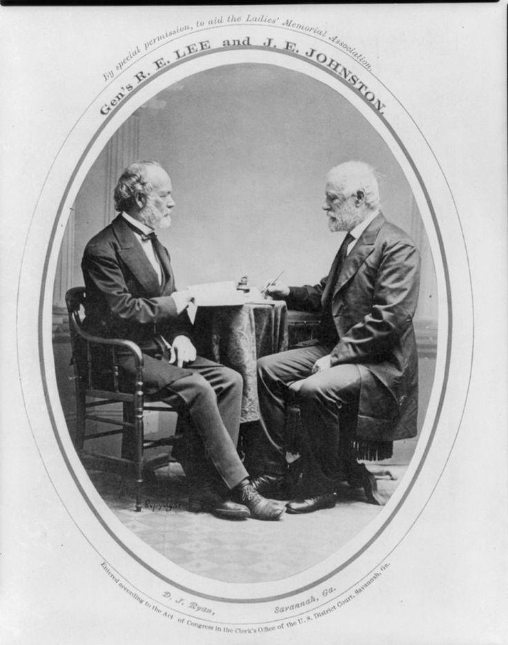 *JOSEPH EGGLESTON JOHNSTON & ROBERT E. LEE ~ PostWar