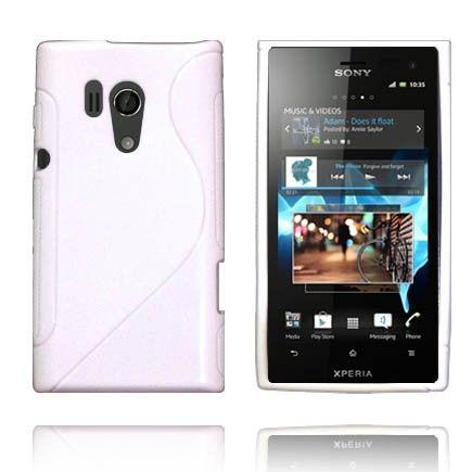 Solid S-Line (Hvit) Sony Xperia Acro S Deksel