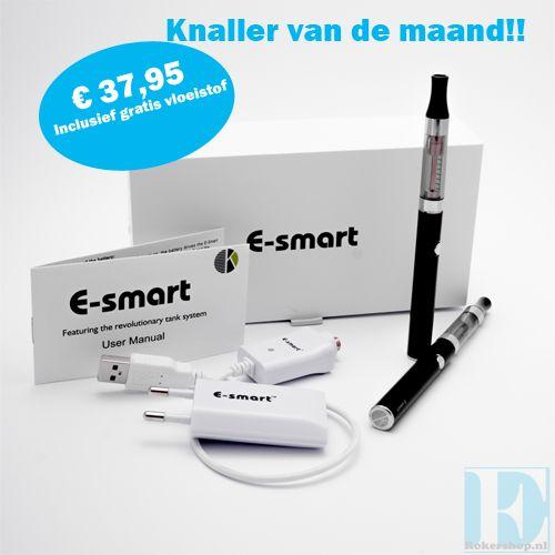 Maandknaller #elektrischroken #e-smart aanbieding. Nu een originele Kangertech e-smart voor €37,95 inclusief gratis vloeistof naar keuze. www.e-rokershop.nl. #dampen