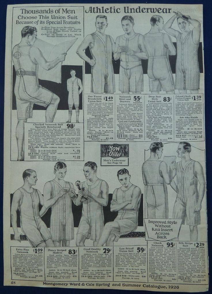 Underwear for Children Men Clothing 1920s Vintage Antique ...