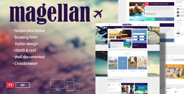 Magellan – Travel WordPress Theme