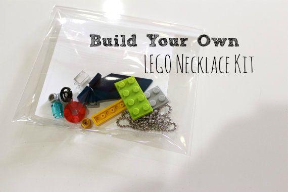 Boys Stocking Stuffer. Build your own LEGO necklace DIY Kit. For Boys or Girls.  Party Favor. Gift. For Kids Children. on Etsy, $5.00