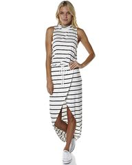 THE FIFTH LABEL JUPITER SUNSHINE WOMENS MAXI DRESS - WHITE BLACK on http://www.surfstitch.com