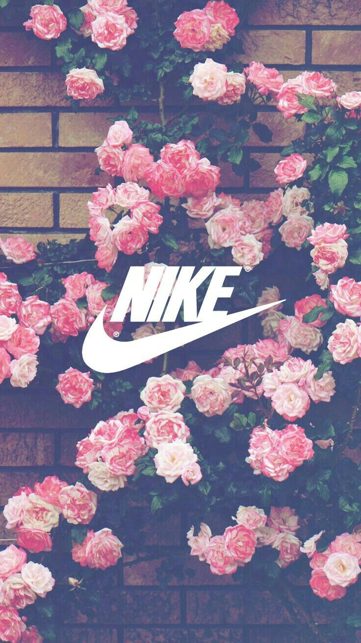 If you want me to make a wallpaper like this send me in dm the image you want! Requests are always open! my username is @shawnmarryme #nike #flowers #floral #pink